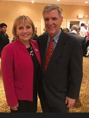 Lt. Gov. Kim Guadagno and Ocean County GOP Chairman George Gilmore.