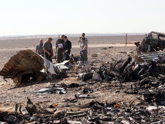 EPA EGYPT RUSSIAN PLANE CRASH DIS TRANSPORT ACCIDENT EGY