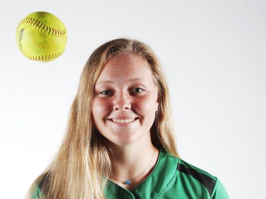 Hannah Perkins from Fort Myers High School is a softball news press finalist.