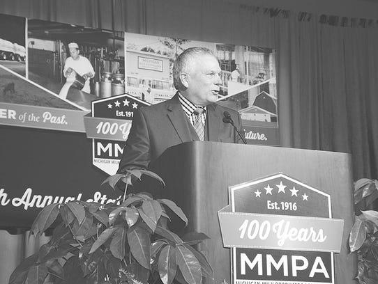 """The tremendous generosity of the Michigan Milk Producers"