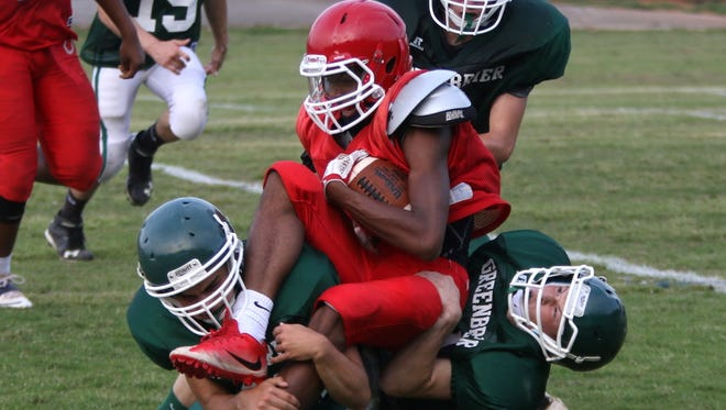 Greenbrier prepares for its upcoming season at a recent scrimmage.