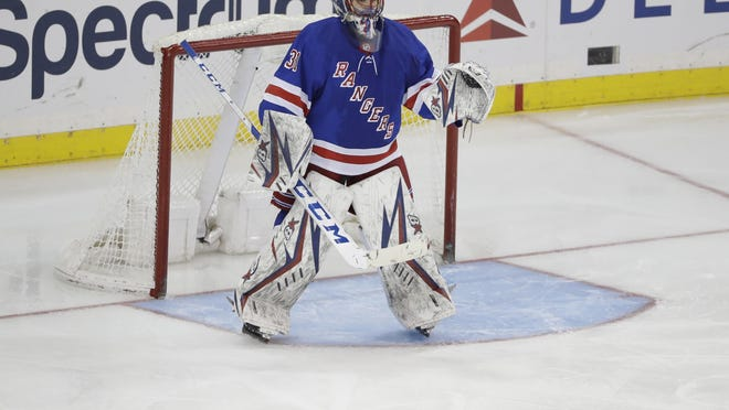 Igor Shesterkin made his first start for the Rangers after being called up from the AHL.