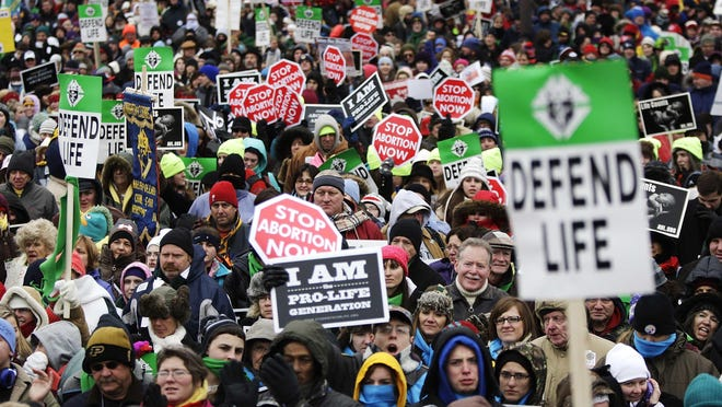 Thousands rally on the National Mall for the start of the annual March for Life rally in Washington, D.C., on Jan. 25, 2013.