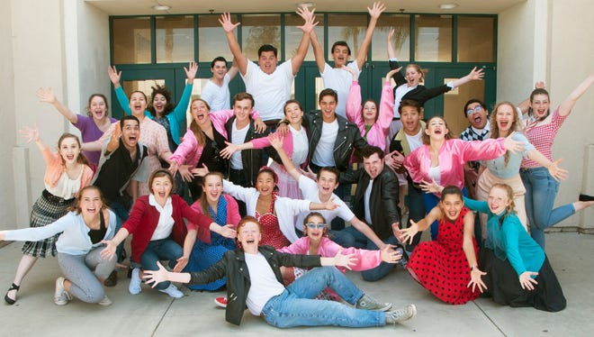 "The company of the Rubicon Theatre Company's Summer Musical Intensive production of ""Grease,"" on stage Aug. 3-10."
