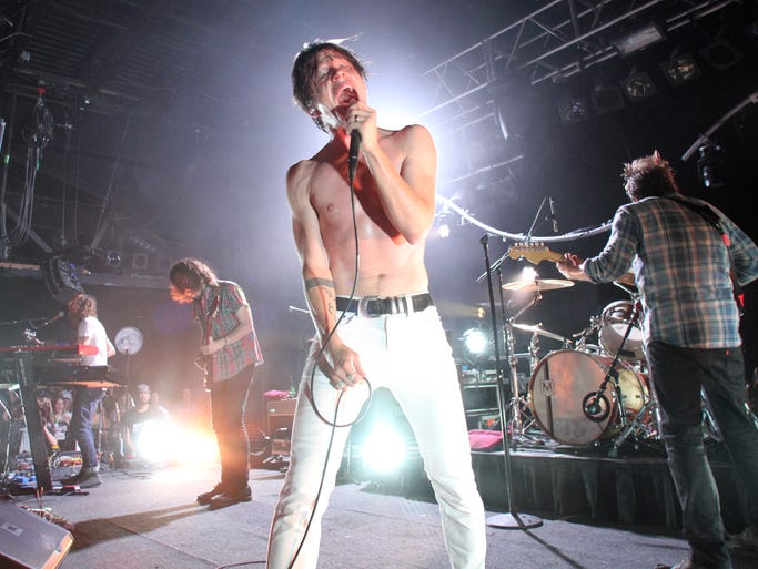 Cage The Elephant preform on stage at the Starland Ballroom in Sayreville    On Wednesday July 30,2014 Photo: Mark R. Sullivan/Staff Photographer