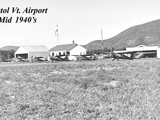 The Bristol Airport seen in the 1940s.