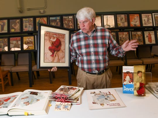 Rev. Mike Vandiver of Anderson a framed Norman Rockwell