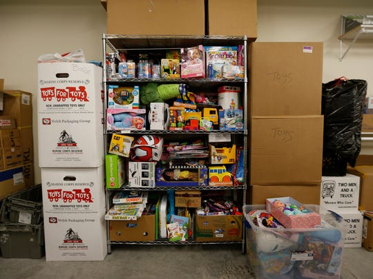 The donations room at the new Harmony House domestic