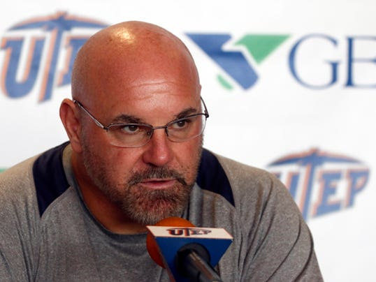 RUBEN R RAMIREZ EL PASO TIMES UTEP head coach Sean Kugler addreses  the media at his weekly press conference and discusses this weeks opponent UTSA which UTEP will play in San Antonio this Saturday night.