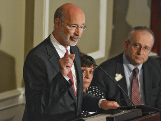 Gov. Tom Wolf addresses York Rotary Club's 100th anniversary luncheon Wednesday in York.