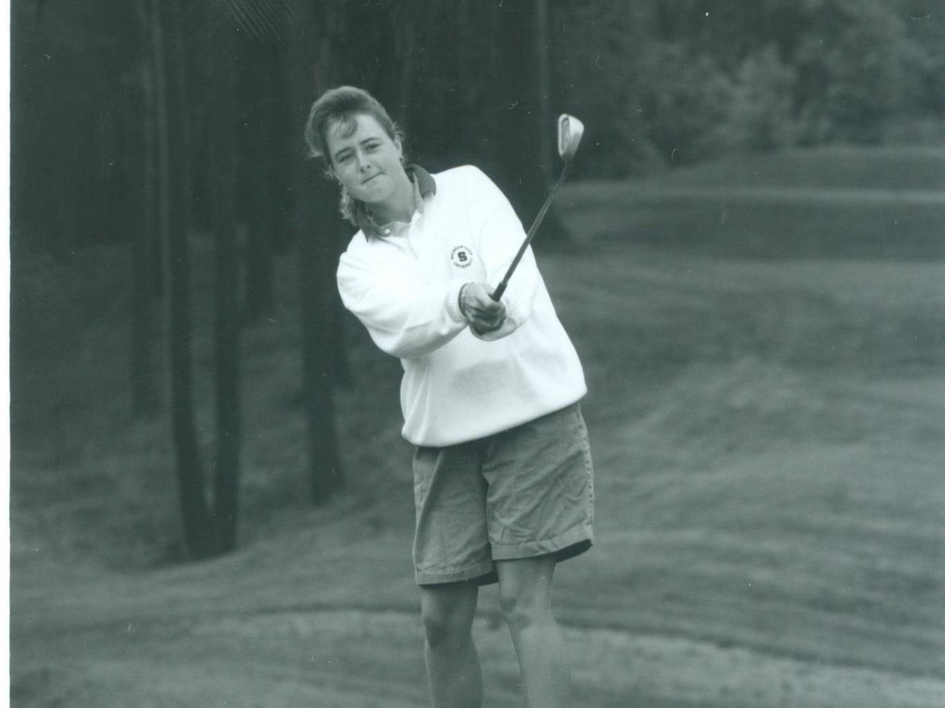 Carolyn Nodus is Mason's only state champion golfer.