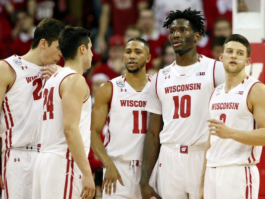 USP NCAA BASKETBALL: IOWA AT WISCONSIN S BKC USA WI