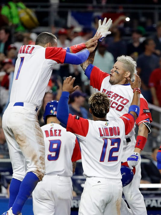 AP WBC DOMINICAN REPUBLIC PUERTO RICO BASEBALL S BBI USA CA