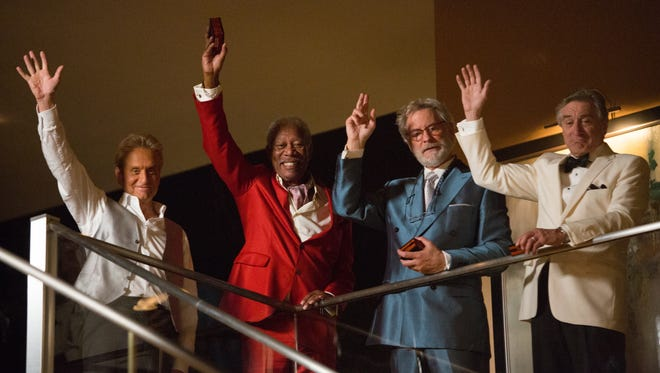Michael Douglas, left, Morgan Freeman, Kevin Kline, Robert De Niro star in 'Last Vegas,'as four sixty-something friends who recapture their youth while throwing a bachelor party.
