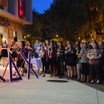 Sisters, family and friends of Jenny Grisales gathered on Union Green to honor her memory.