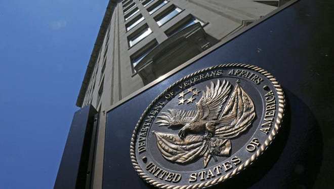 This June 21, 2013, file photo shows the seal affixed to the front of the Department of Veterans Affairs building in Washington.