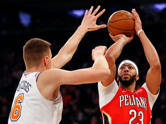 6c510f424703 Anthony Davis leads New Orleans Pelicans to OT win over New York Knicks