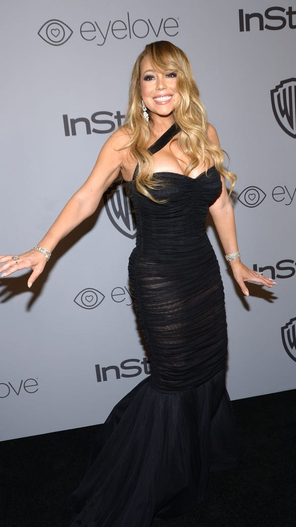 Here's something you didn't see on TV: Mariah Carey