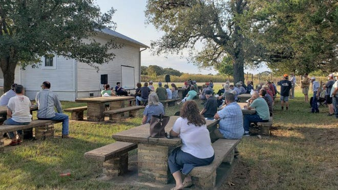 About 75 residents showed up to the Rosanky Community Center on Oct. 19 to learn about a proposed $200 million solar farm south of Rosanky on Jeddo Road.