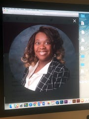 Xandra Brooks-Keys is shown in this photo of a computer