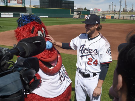 Archie, the Aces mascot, tries to steal the spotlight