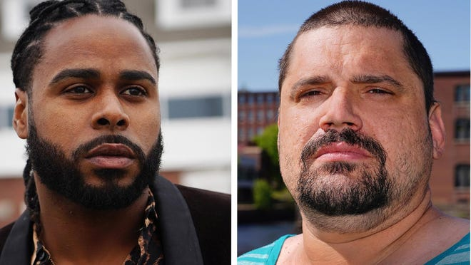 Freddy Nivar, left, is unhappy there were no charges following a fight in a Hampton Beach residence that led to the death of his brother Juan Astacio, 34, in April 2019. Greg O'Brien, right, who was ruled by investigators to be acting in self defense, believes he did nothing wrong, but regrets the outcome of the fight.