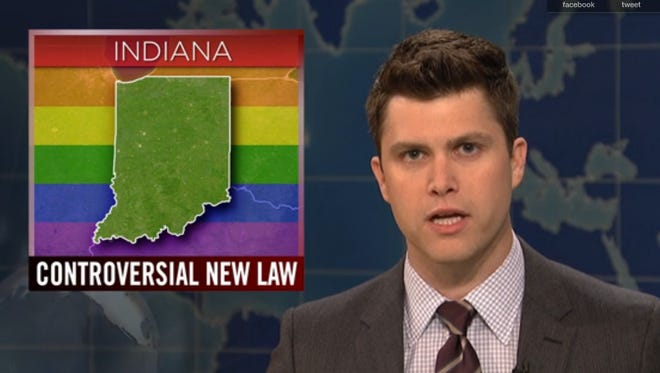 """Weekend Update anchor Colin Jost on """"Saturday Night Live."""""""