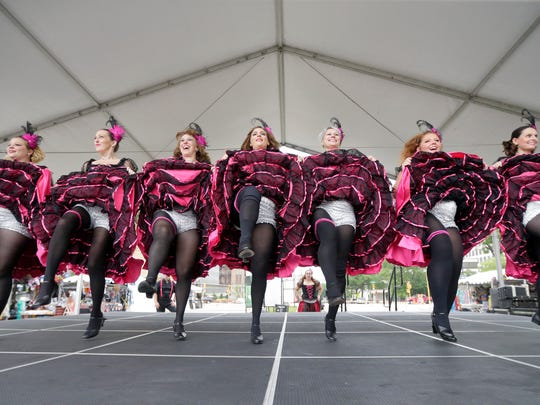 Madame Gigi's Outrageous French CanCan Dancers are back at Bastille Days in East Town this weekend.