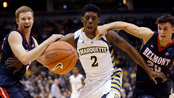 Marquette's Sacar Anim played in 16 games as a freshman in the 2015-'16 season. He redshirted last year.