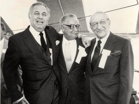 (Left to right) Alfred Taubman, Mayor Coleman Young