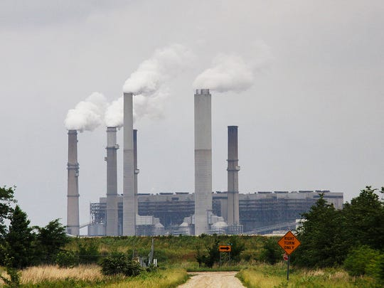 Duke Energy's Gibson Generating Station, a coal-fired plant, is seen in photo taken Monday in Gibson County, Ind.