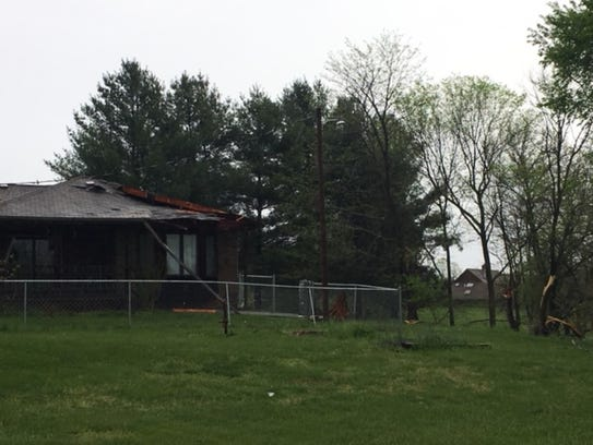 A tornado caused damage early Thursday morning in Ozark.