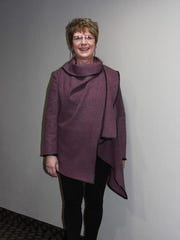 Michal Ann Stedje used a woven tweed wool fabric to