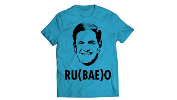 A T-shirt available from Marco Rubio's campaign.