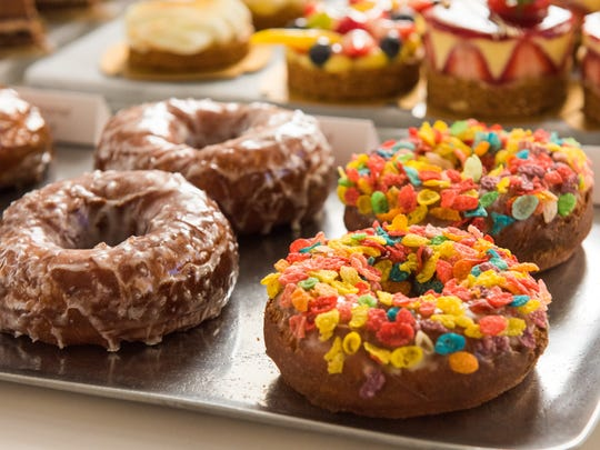 Doughnuts from Melange Bakery and Cafe in Newark's Terminal C.