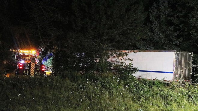 According to the Ohio State Highway Patrol, a tractor-trailer struck and tipped over onto another vehicle around 11:30 p.m. Wednesday, killing four of the seven people in the other vehicle.