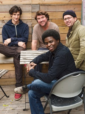 Keller Williams (center rear) and his new band, the KWahtro.