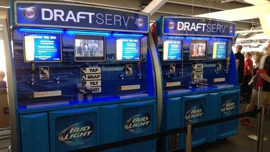 Self-serve beer station at Target Field.