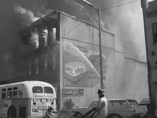 The Holthouse Furniture store was destroyed by fire