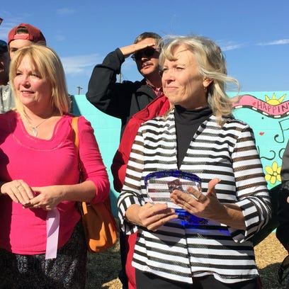 Members of the Stacy Milligan Family were presented