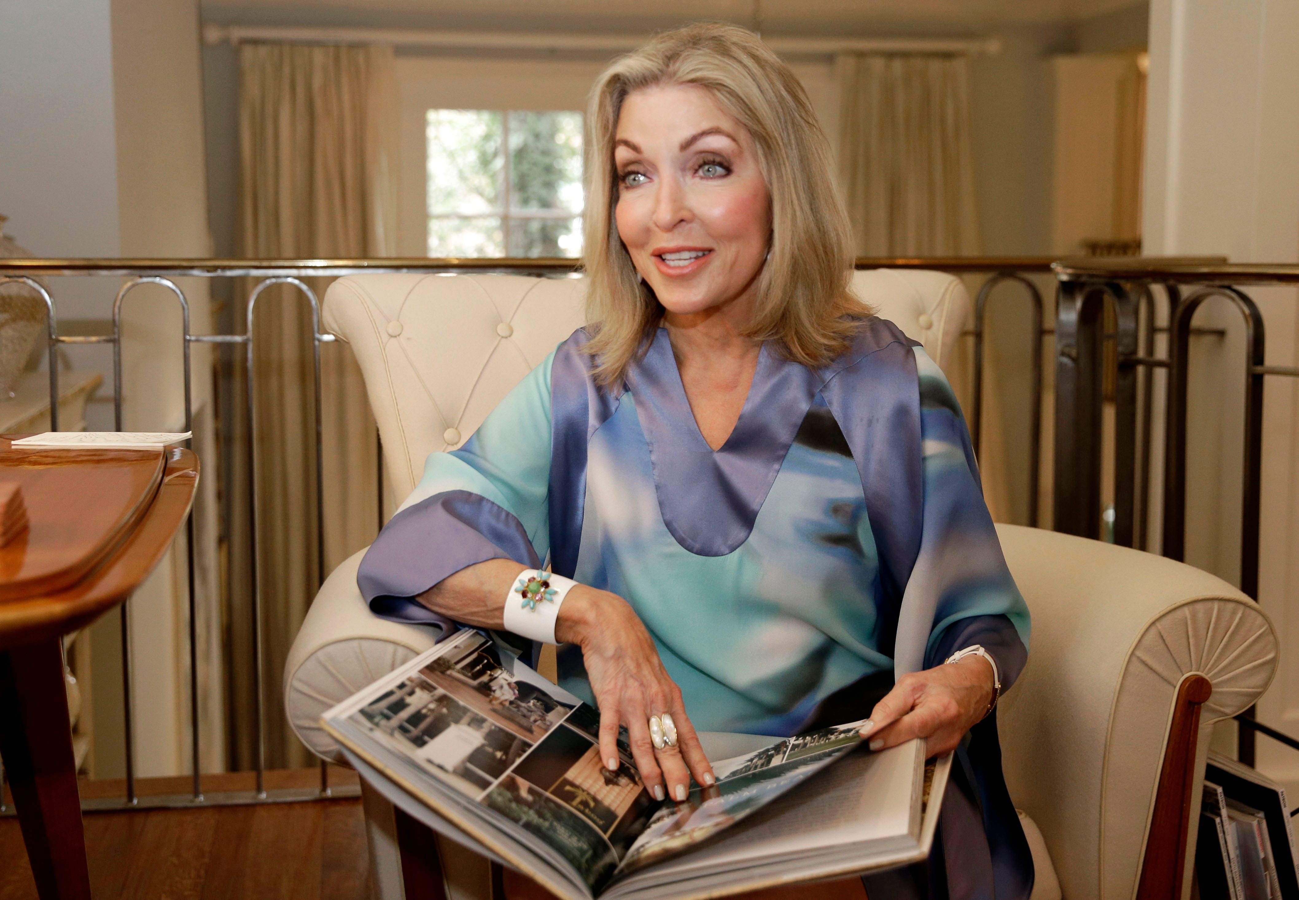 Interior Designer Jan Showers Holds Her Book U201cGlamorous Retreats,u201d At Her  Home In Dallas. Showers Encourages People To Take The Time To Design Their  Own ...
