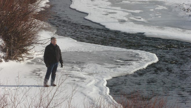 Roger Running Crane of the Blackfeet Tribal Council walks along Cut Bank Creek in 2007. At the time, the council was in negotiations with state and federal agencies resolve water rights. The Senate on Thursday approved the Blackfeet Water Compact. It goes next to the House.