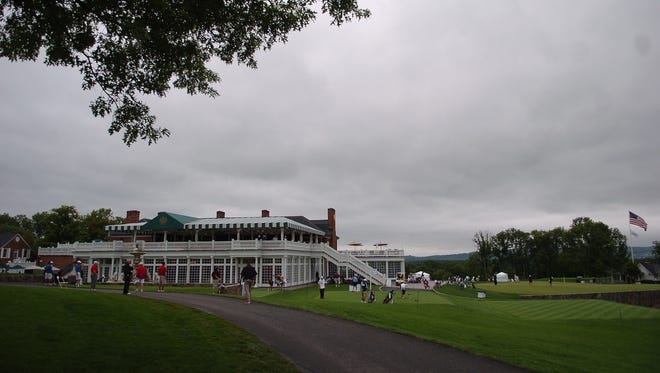 The clubhouse at Trump National Golf Club  in Bedminster, pictured in July of 2009 during the US Junior Amateur and Girls' Junior.