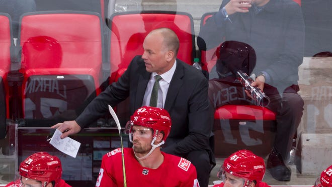 Detroit head coach Jeff Blashill