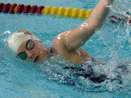 Junior Mya Loniewski scored in two events for the Marlins,