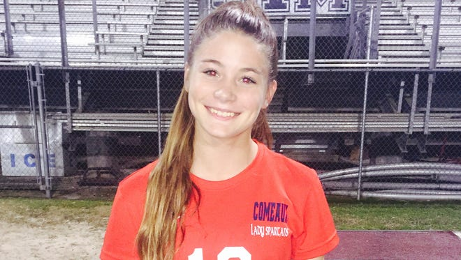 Comeaux High star soccer player Hanna Hollier is the Chevy Dealers Female Athlete of the Week.