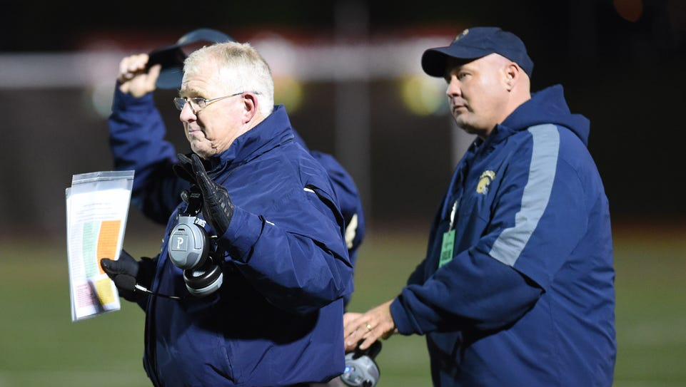 Our Lady of Lourdes High School football coach Brian