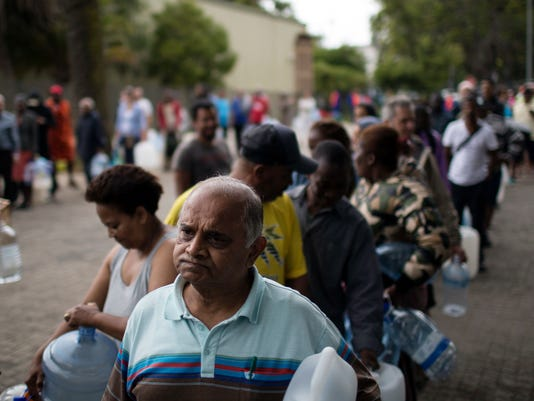 AP SOUTH AFRICA CAPE TOWN WATER CRISIS I ZAF
