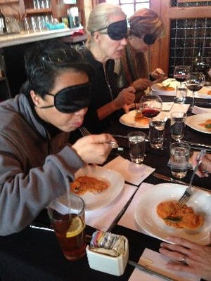 Dining in the Dark, a blindfolded five-course tasting dinner, is hosted at Via Vanti! in Mount Kisco