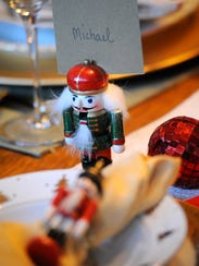In this file photo, a table setting of nutcrackers,
